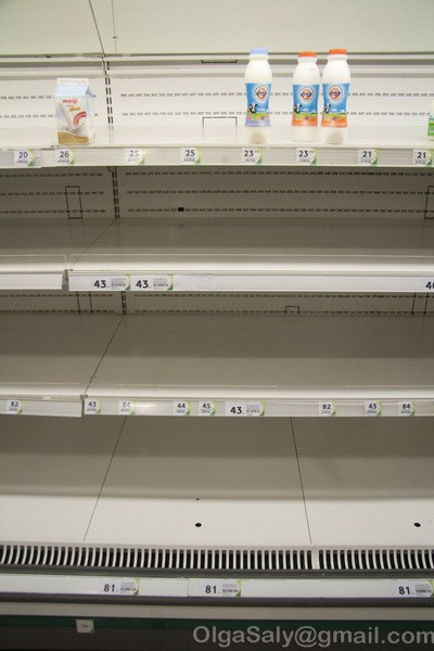 But shops is empty. If you are in Thailand and the rain is not stopping a few days, it is necessary to buy food at the store right now!:)
