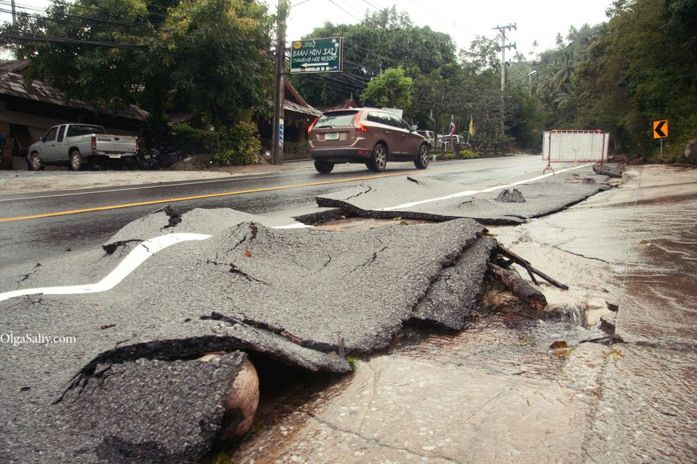 After flooding Samui