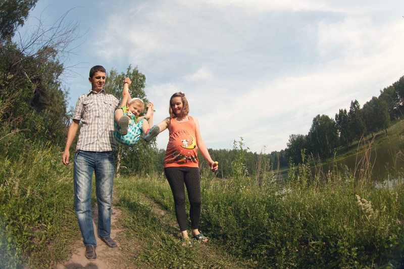 Family photo session. Russian photography