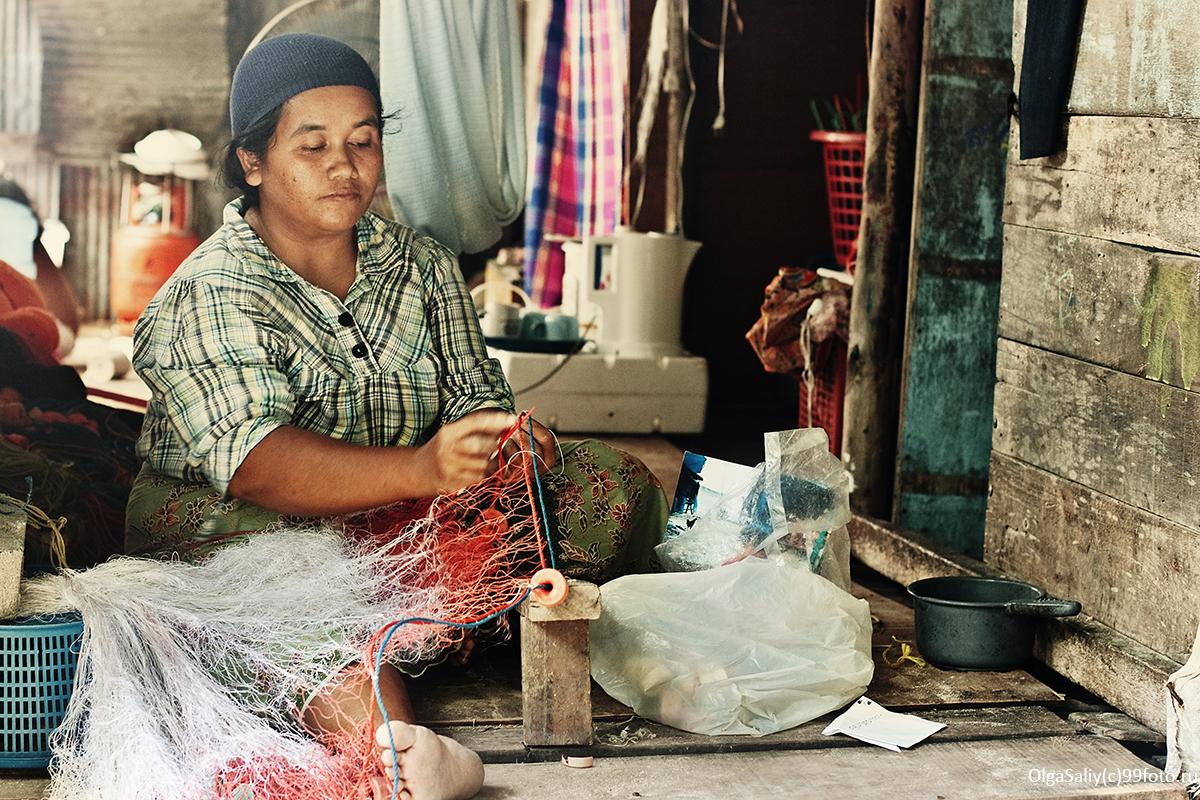 The settlement of fishermen in Thailand