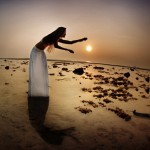 Shaman dancer, beach photoshooting