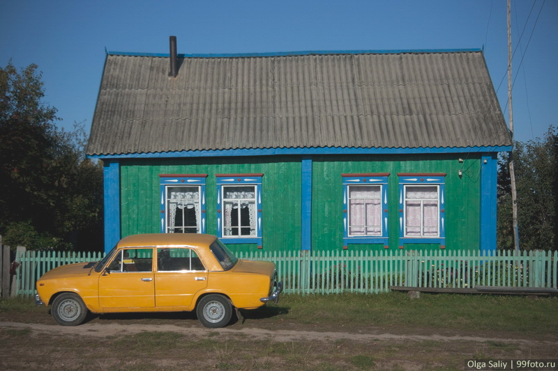 Estonian village Nikolaevka in Russia