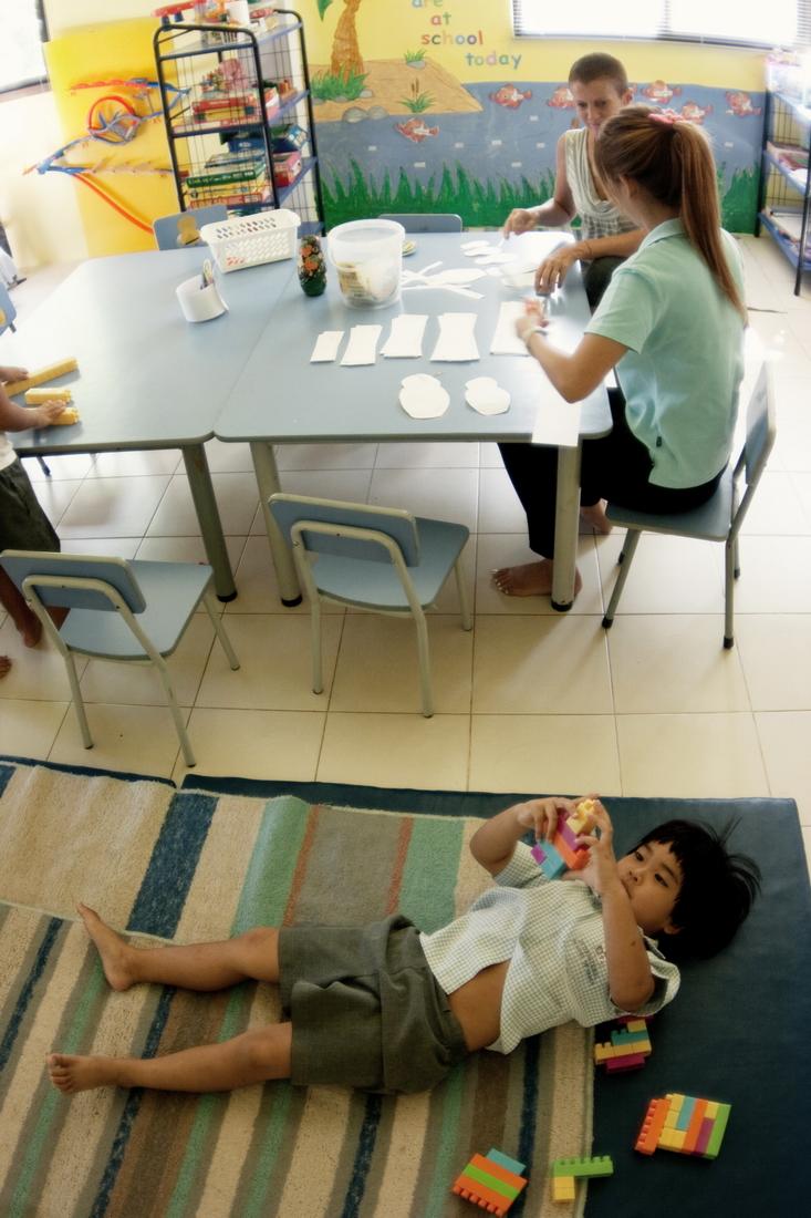 Child in kindergarten
