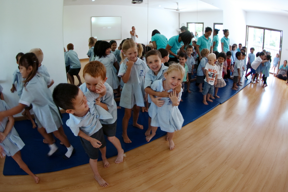 Children playing in kindergarten