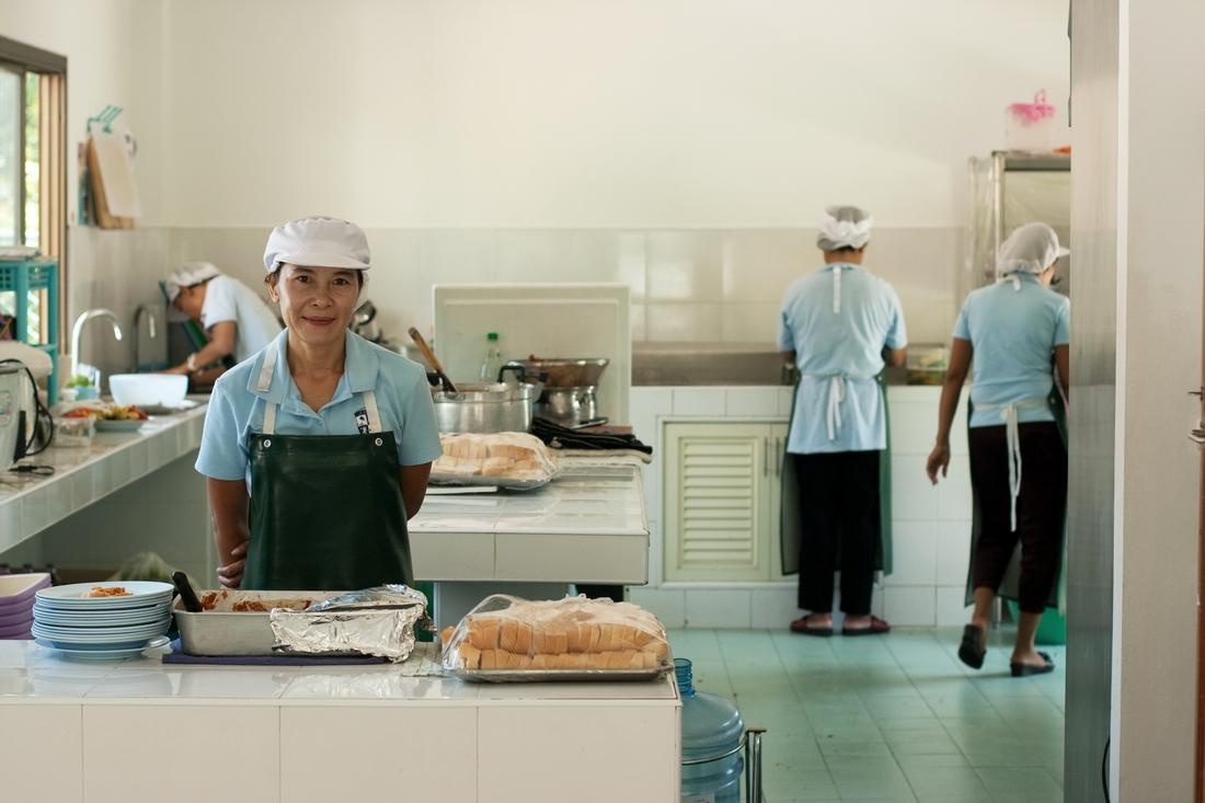 Kitchen in koh Samui kindergarten