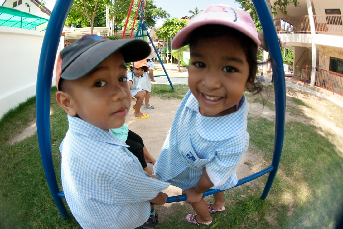 Thai children in an international kindergarten