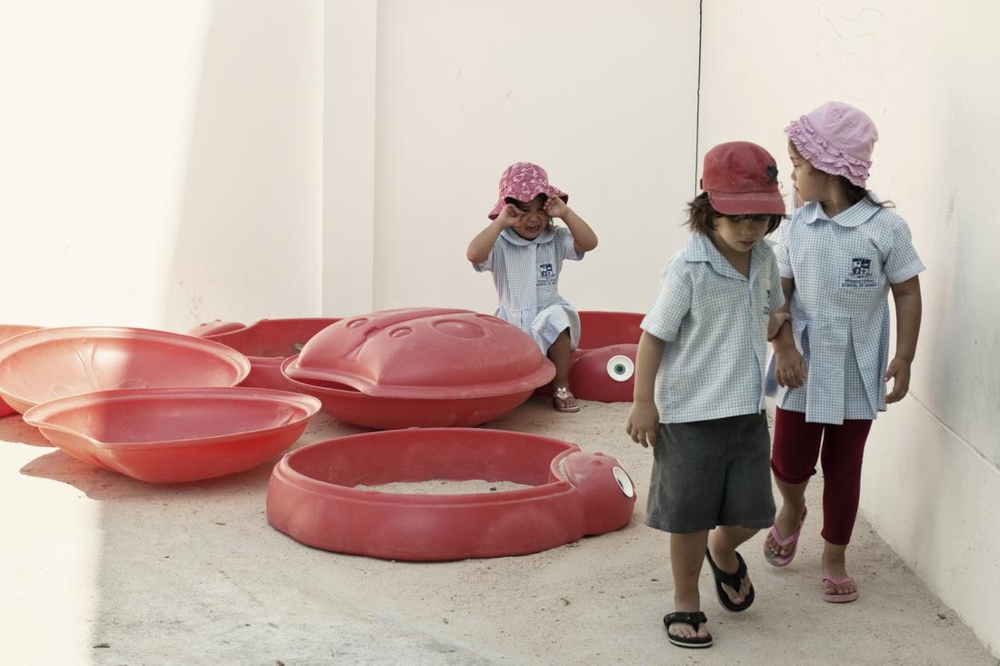 Love story in Thailand kindergarten