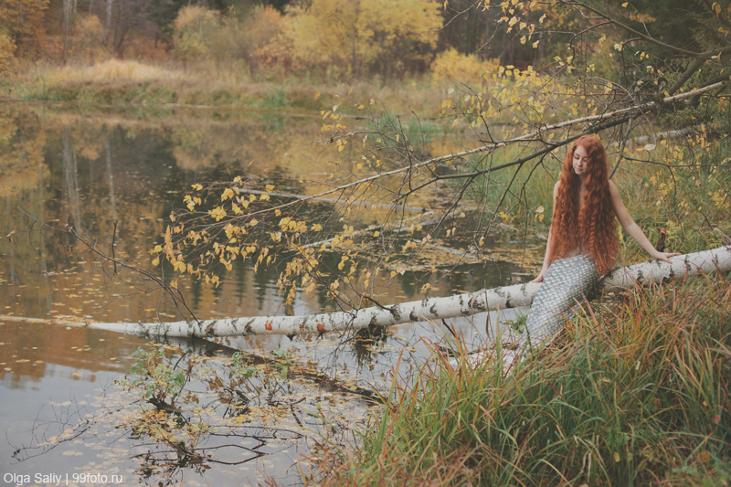 Where winter mermaid. Russian photography Olga Saliy