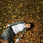 Leaf fall photoportrait