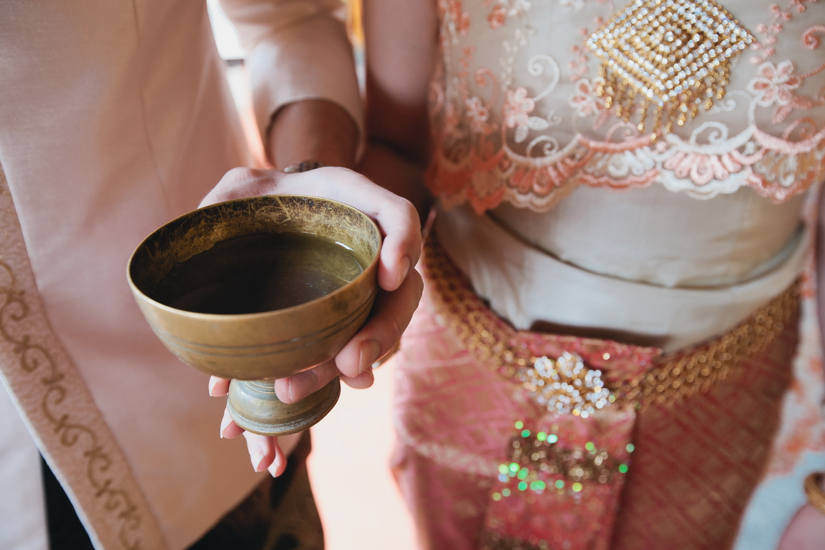 The water at Thai wedding ceremony