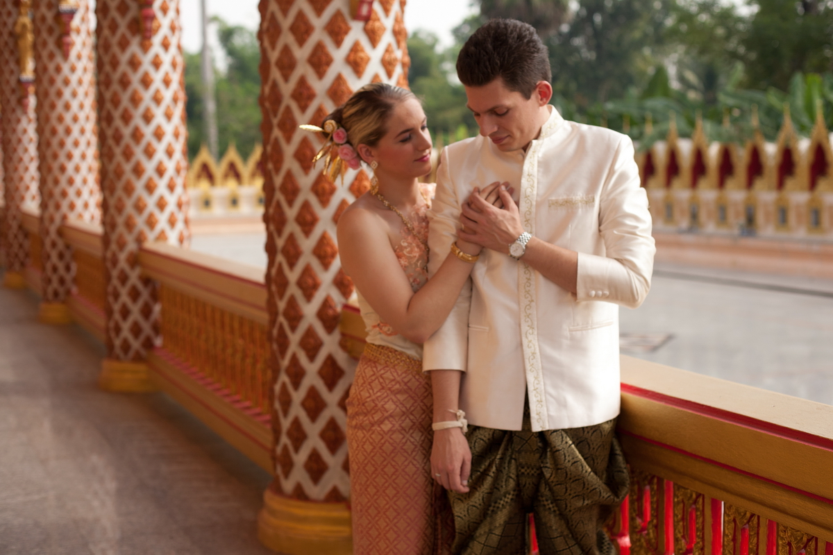 The wedding ceremony, Thai-style