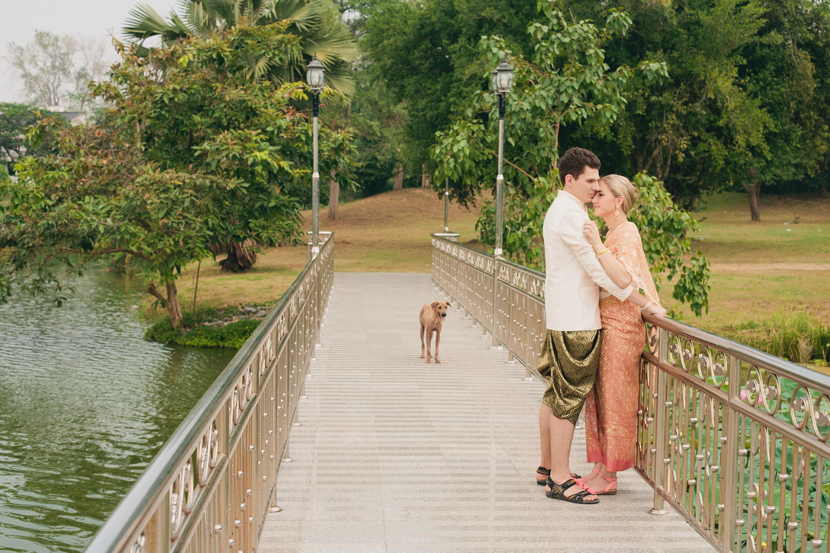 newlyweds in Thailand