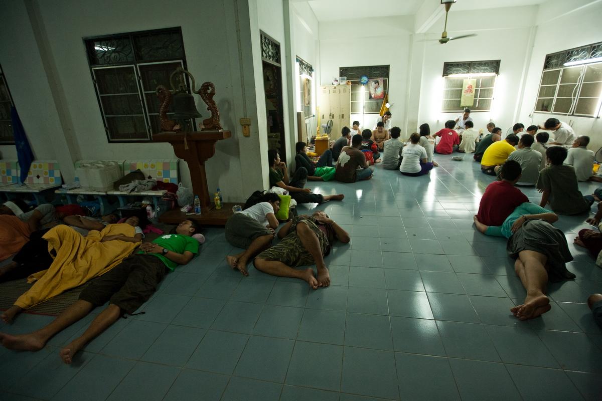 Slieping people at Sak Yant Festival