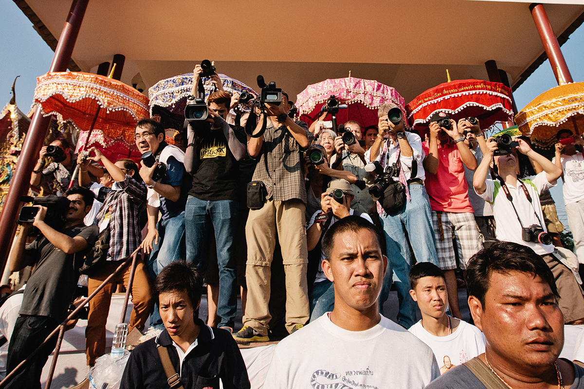 Photographers at Sak Yant festival, Thailand