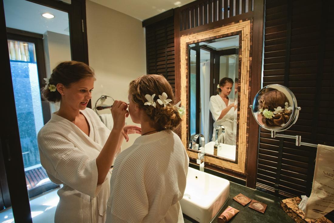 Preparations for the wedding on Koh Samui