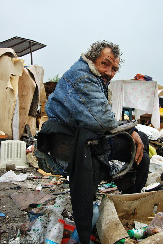 Homeless men at the dump