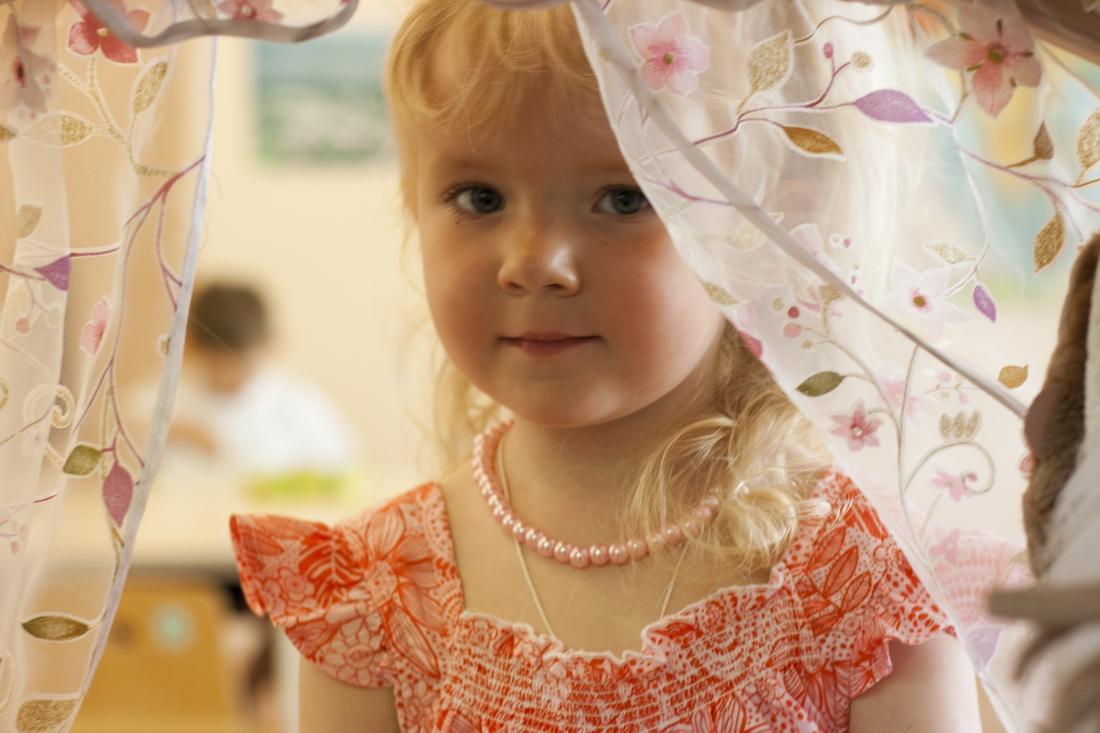 Girl in kindergarten