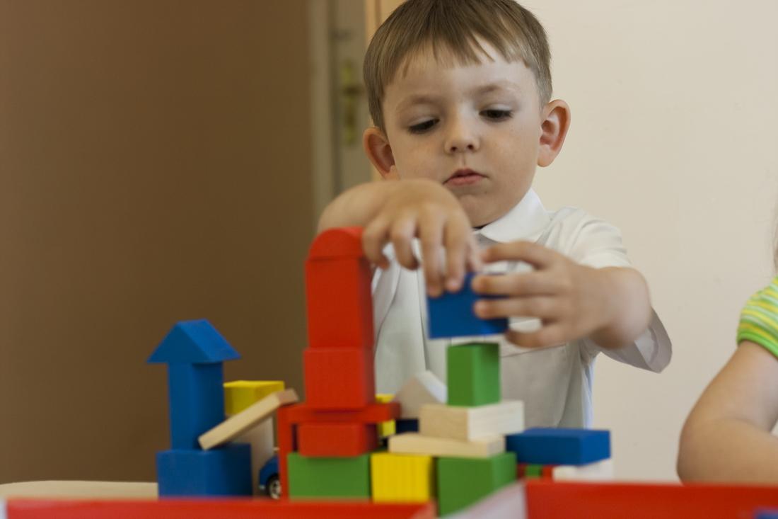 The boy in russian kindergarten
