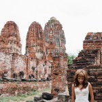 Alone Bride Portrait in Ayutthaya, Thailand