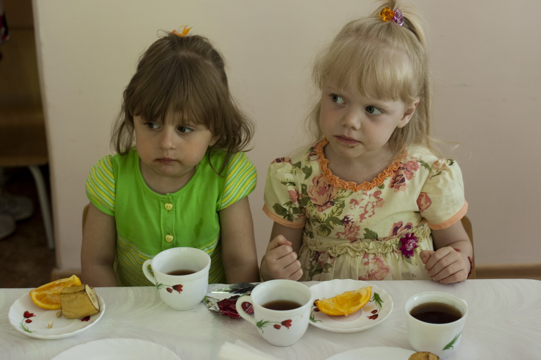 Lunch at kindergarten Russia