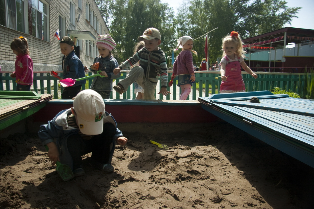 Playground in russian kindergarten