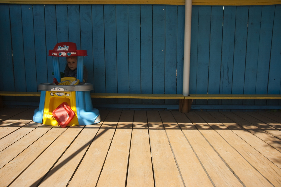 Playground in russian kindergarten