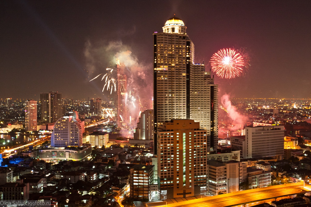 Bangkok Lebua fireworks