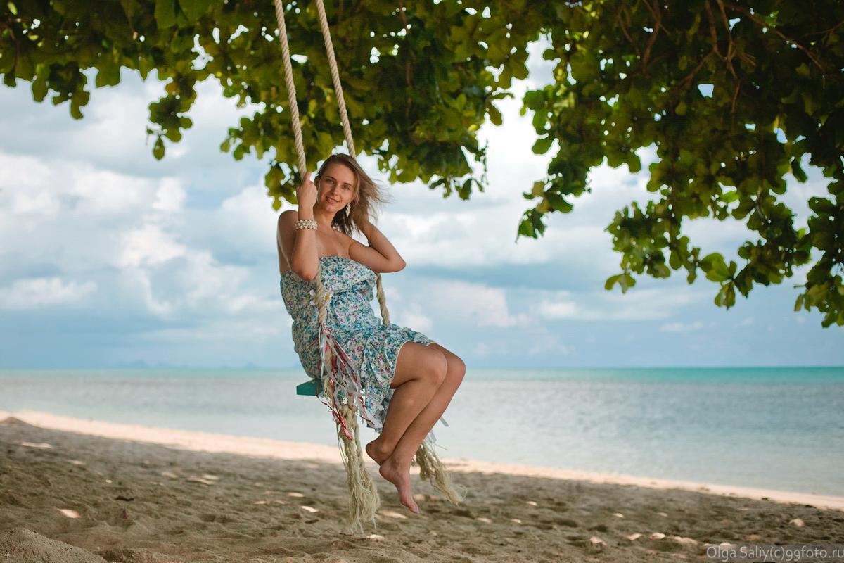 Girl on a swing Samui Bang Po