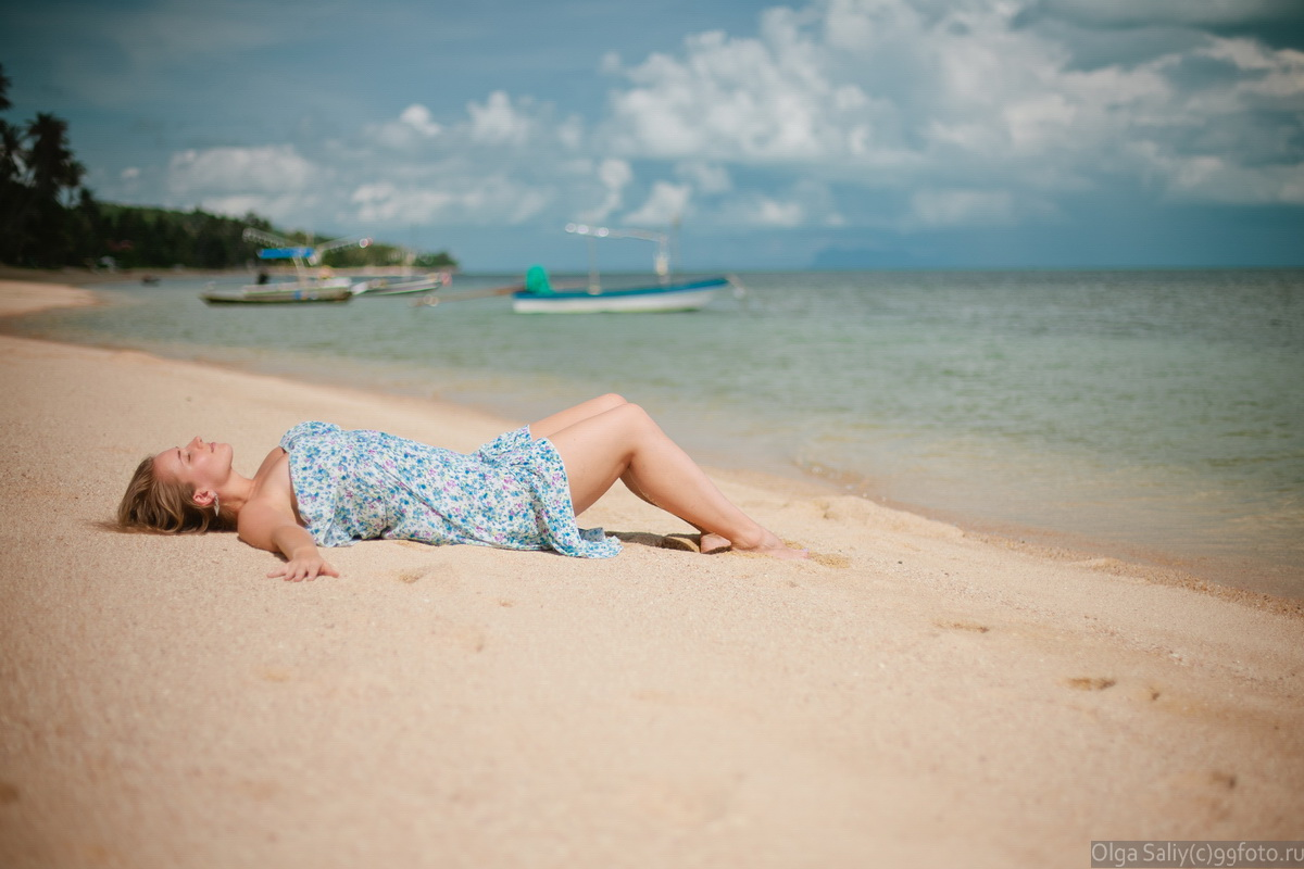Girl on the beach Bang Por Samui