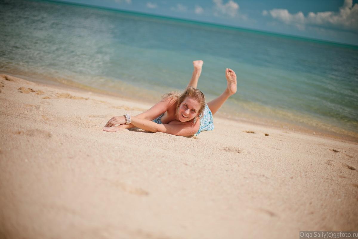 Girl on the beach Thailand