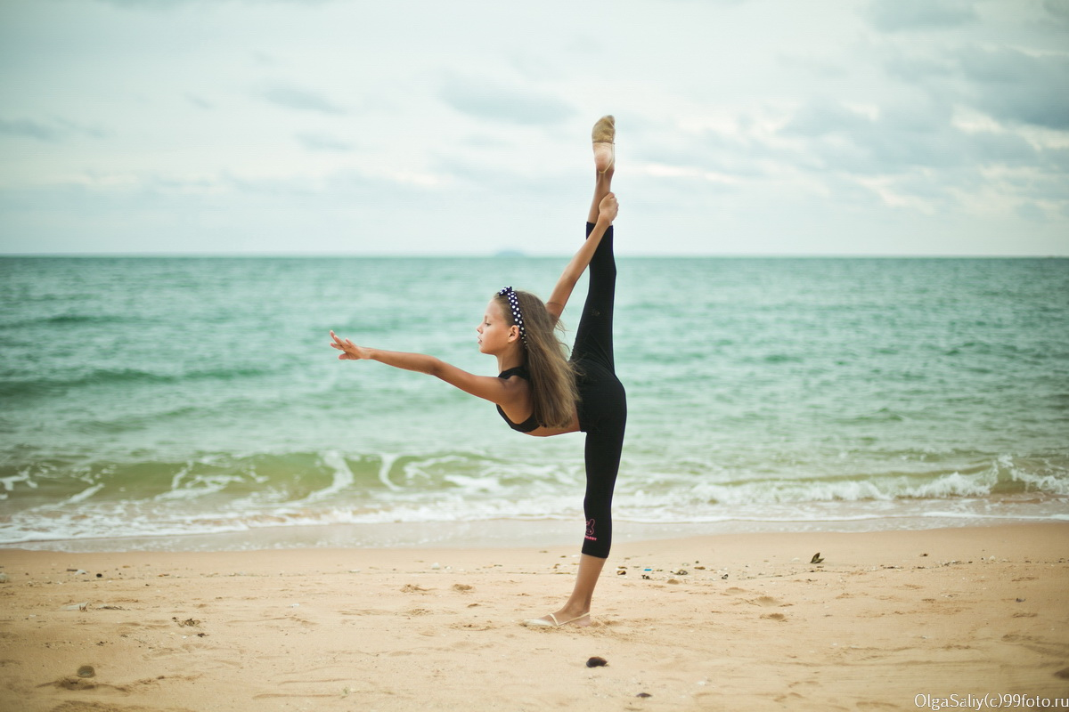 gymnastics on the beach