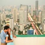 Bangkok Romantic Walking. Love Photography