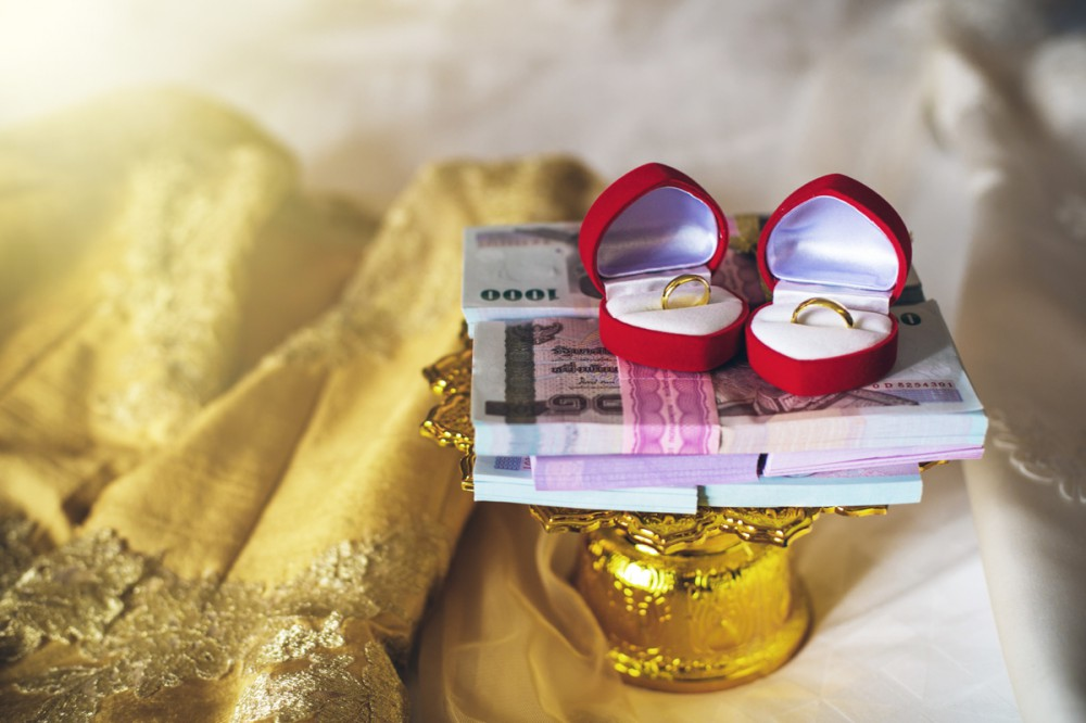 Thai money in wedding ceremony