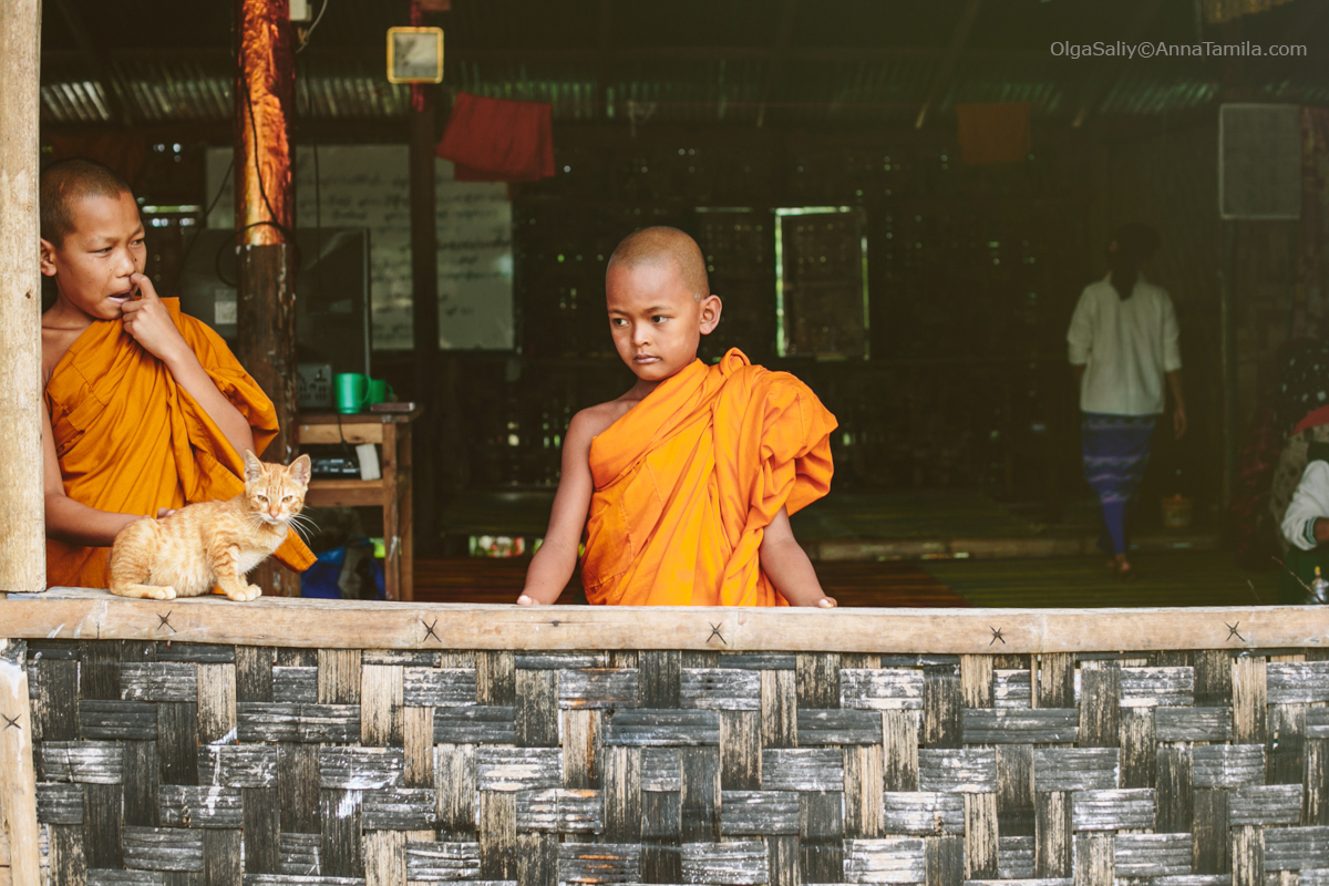 Buddhist monk in camp