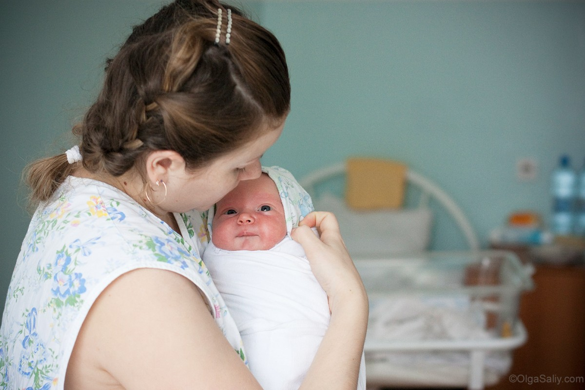Mother and baby in Maternity hospital