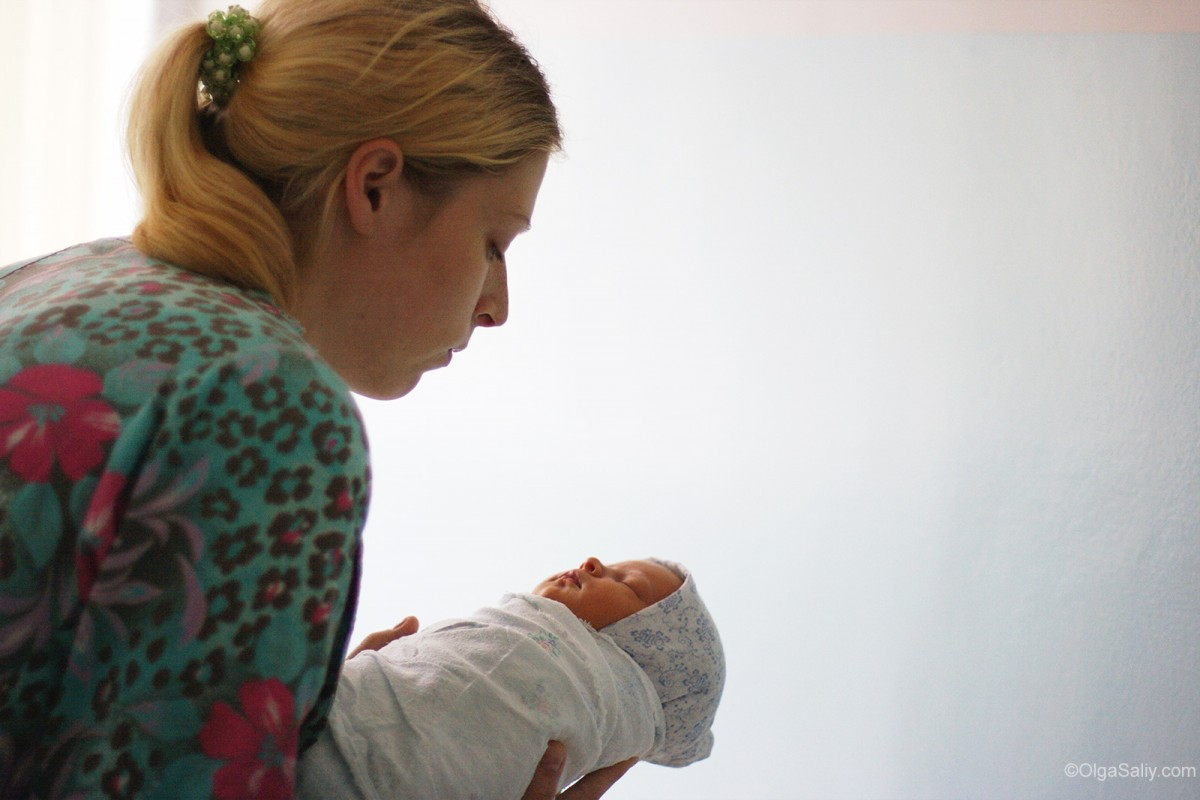 Russian Maternity hospital: mother and baby