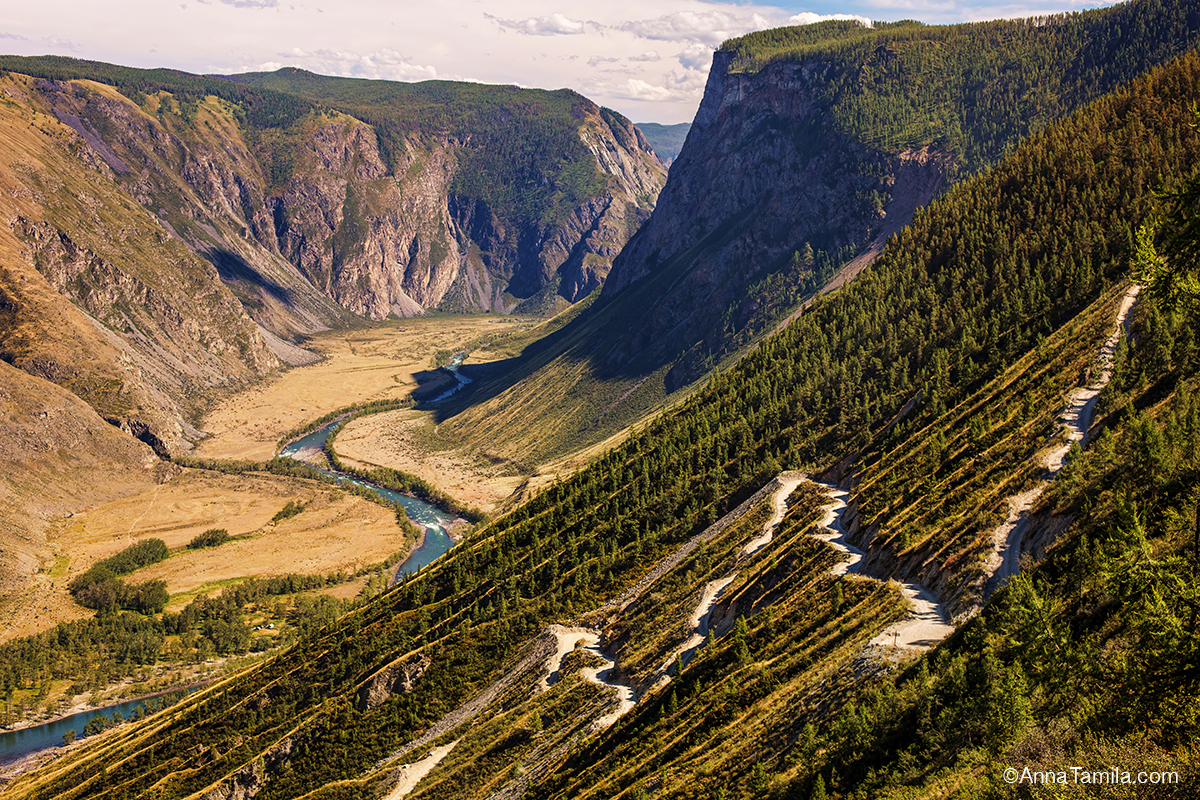 Mountains in Russia for travel