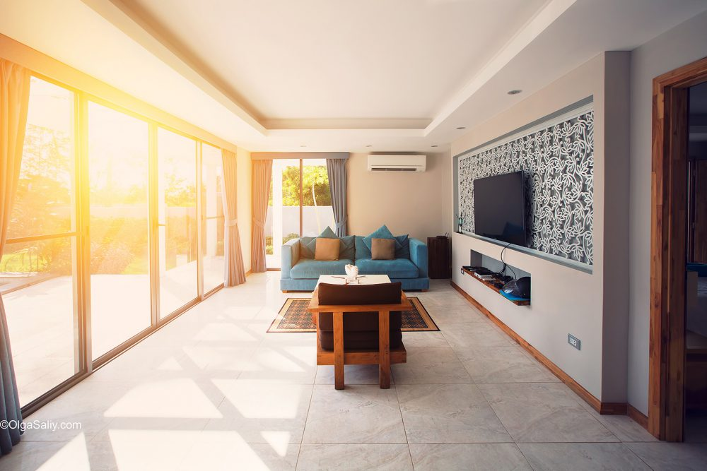 Interior professional photography luxury villa TFP