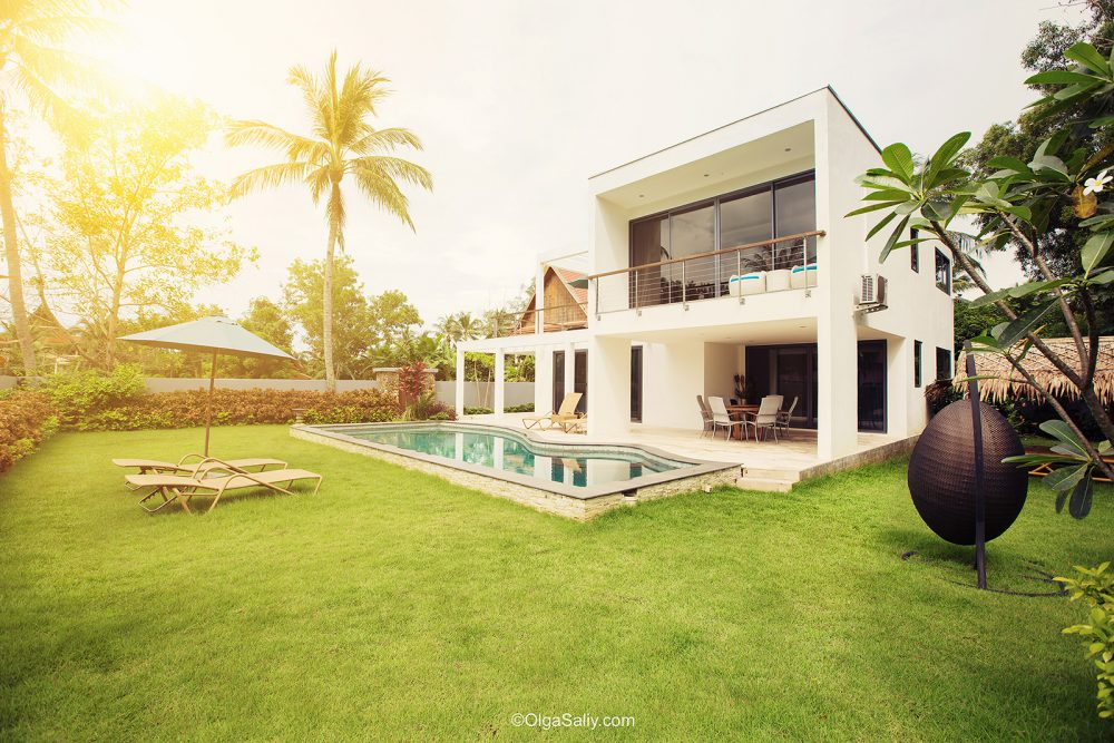 Interior professional photography luxury villa samui