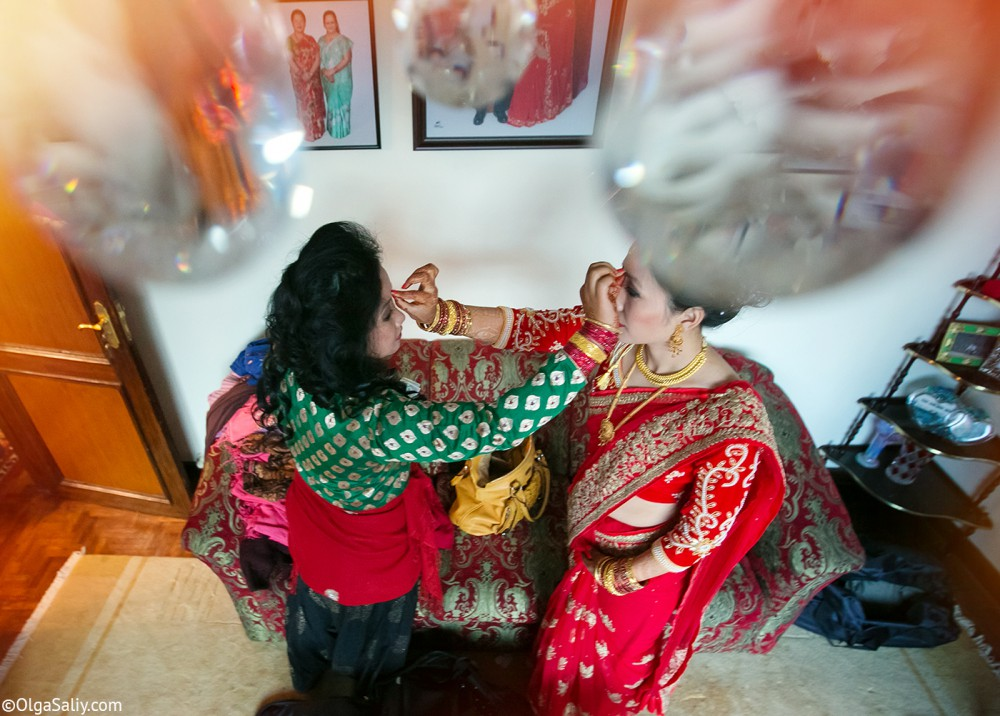 Sisters. Nepali Wedding day