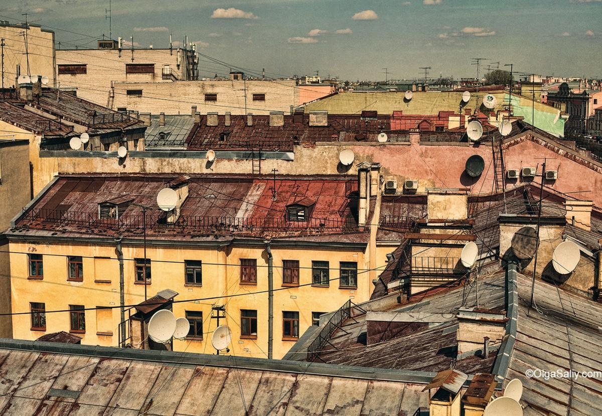 Saint Petersburg, Russia, roofs