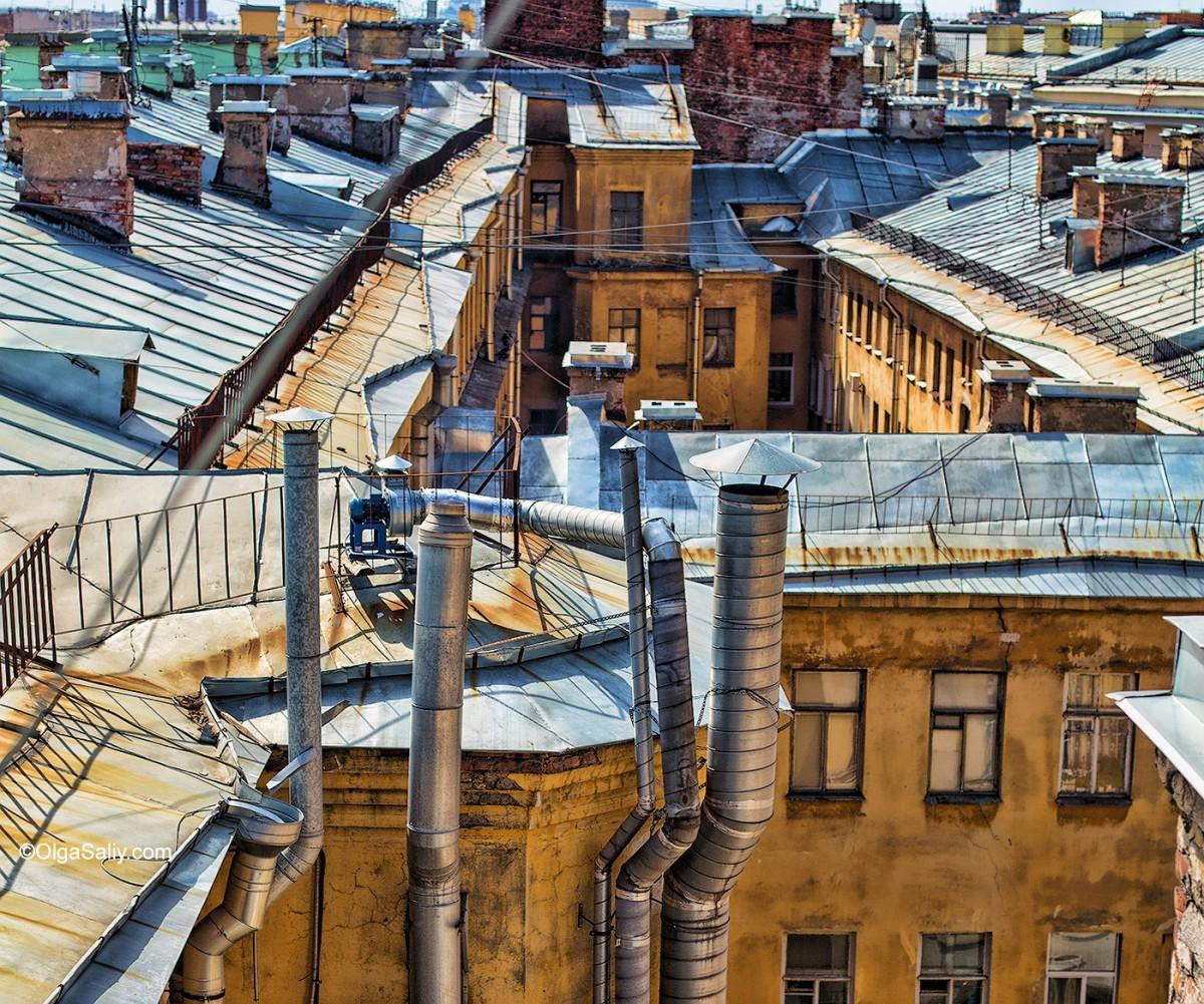 Saint Petersburg, Russia, top view