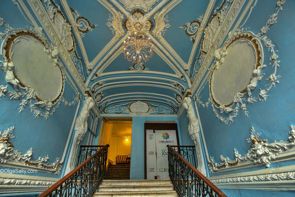 vintage staircase in Russia