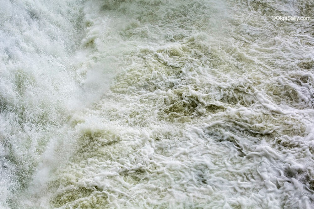 Test water discharge at Boguchany hydroelectric dam
