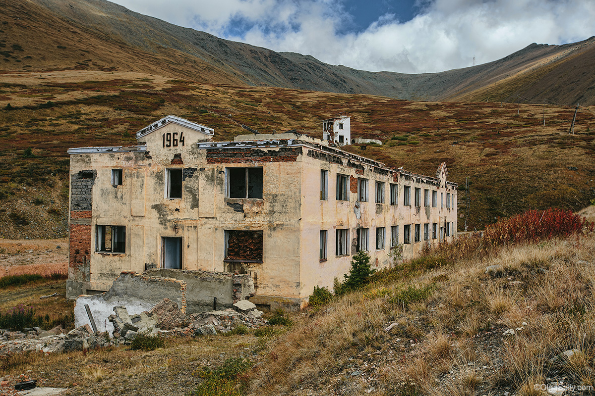 Abandoned Building in Altai mountains near Aktash