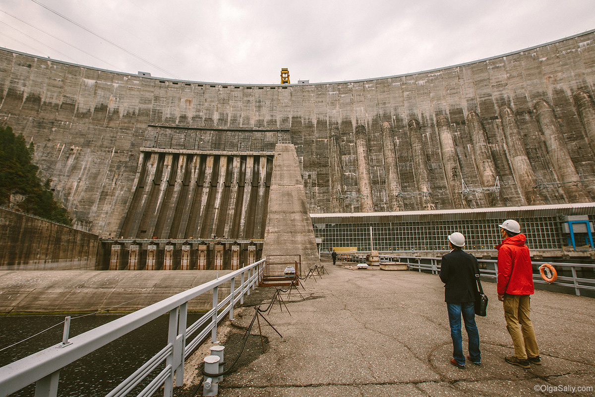 hydro power plant Dam in Russia