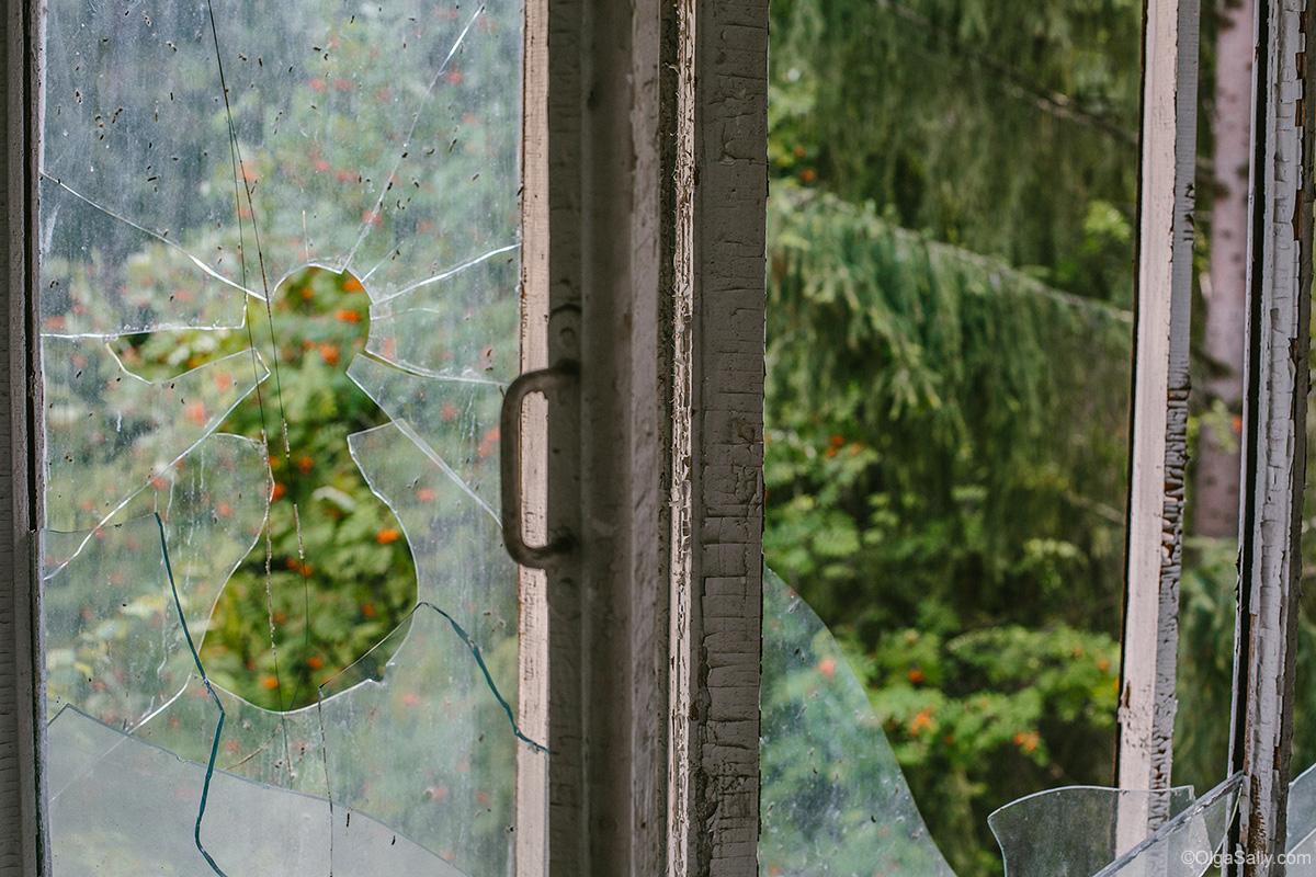 Abandoned Resort broken window
