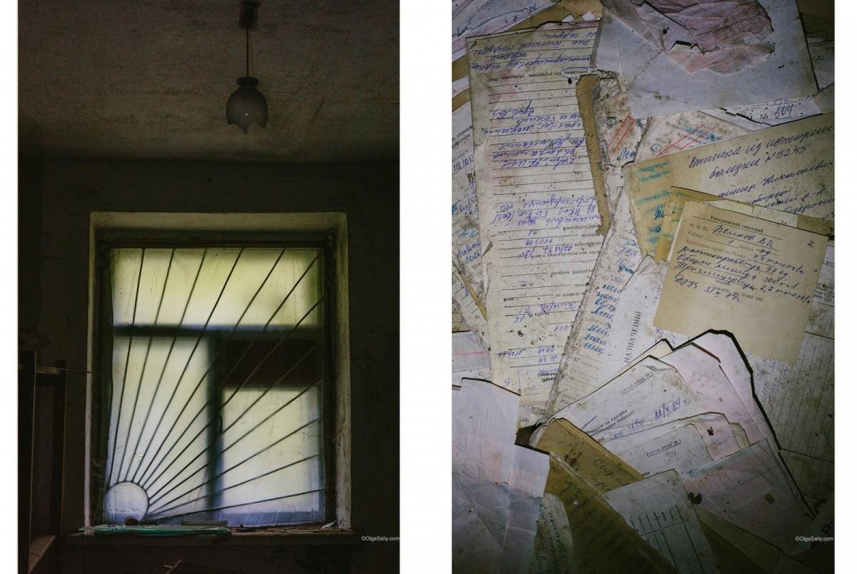 dark old window
