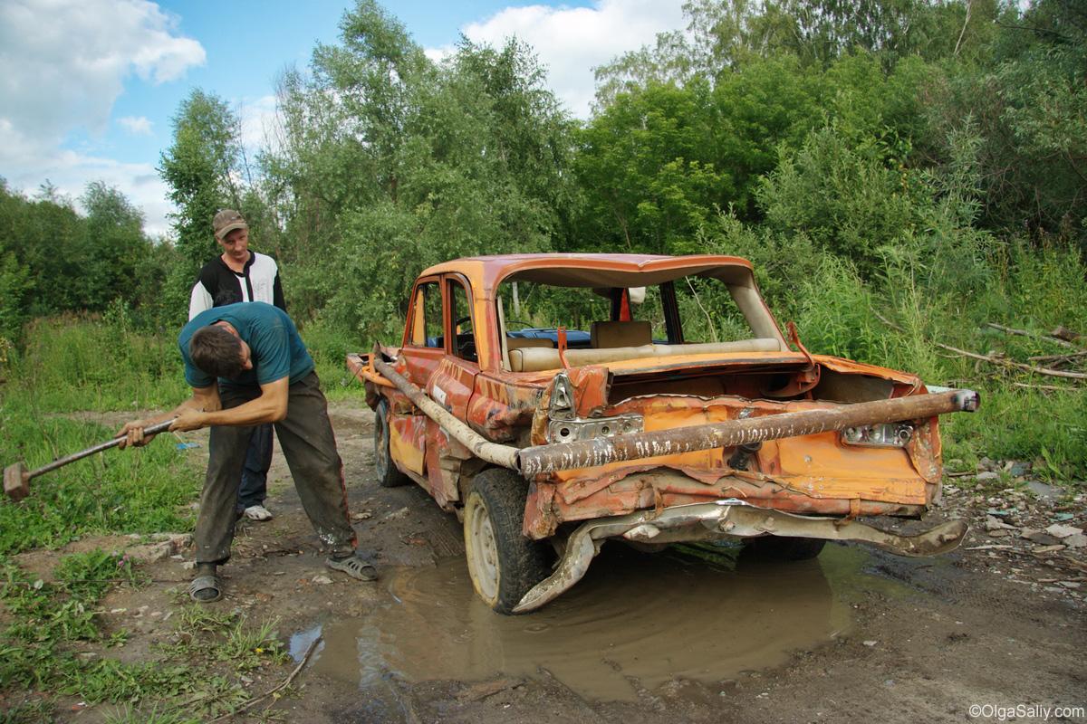 Crazy Russian car reparing