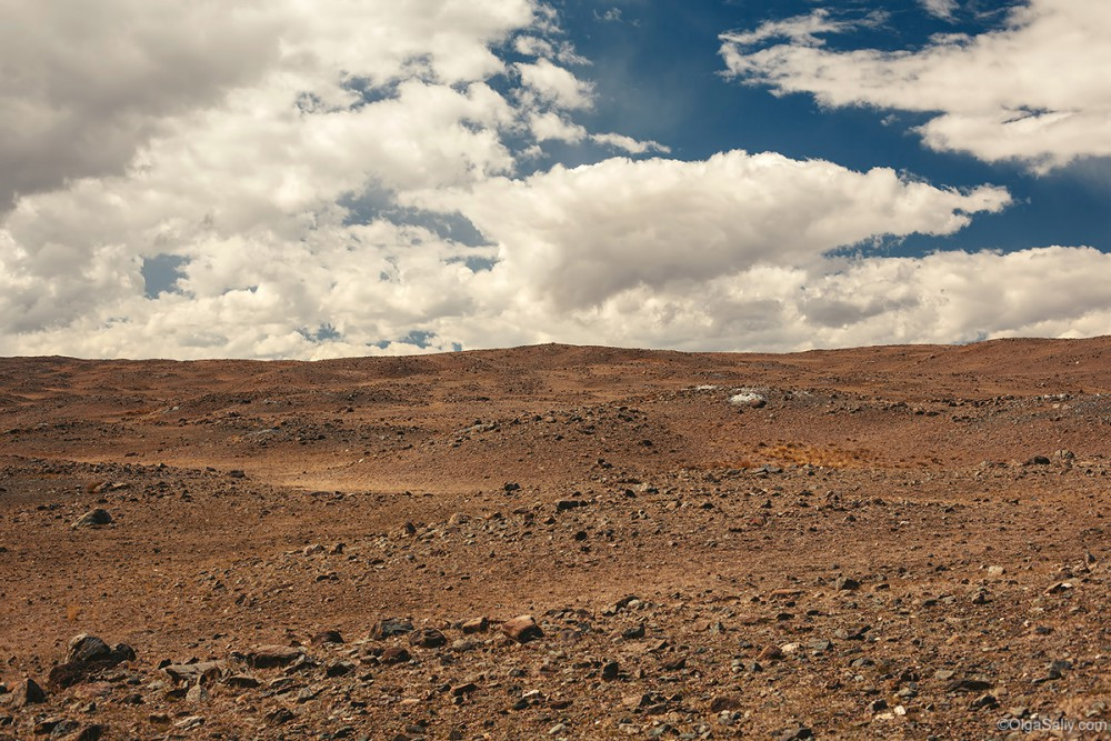 Altai Mountains. Mars landscape